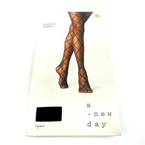 A New Day Diamond Shift Sheer Tights Size S/M